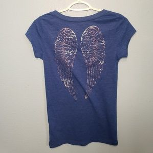 Aeropostale Tops - Aeropostale Blue Shirt With Angle Wings